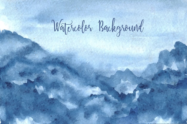 Blauwe hemel aquarel achtergrond
