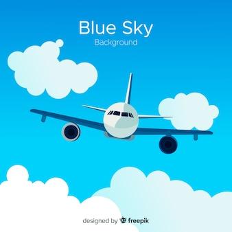 Blauwe hemel backround