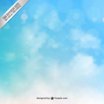 Blauwe hemel in bokeh stijl