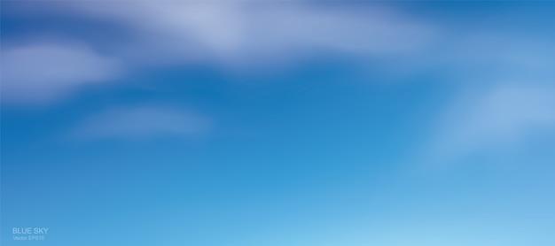 Blauwe hemelachtergrond met witte wolken. abstracte hemel voor natuurlijke achtergrond.