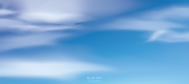 Blauwe hemelachtergrond.