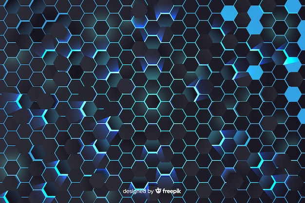Blauwe honingraatachtergrond