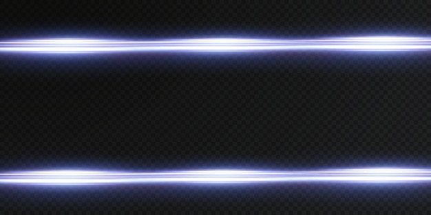 Blauwe horizontale lens flares pack