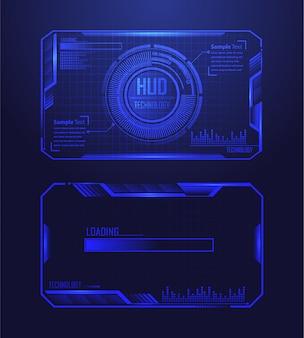 Blauwe hud cyber kring toekomstige technologie concept achtergrond