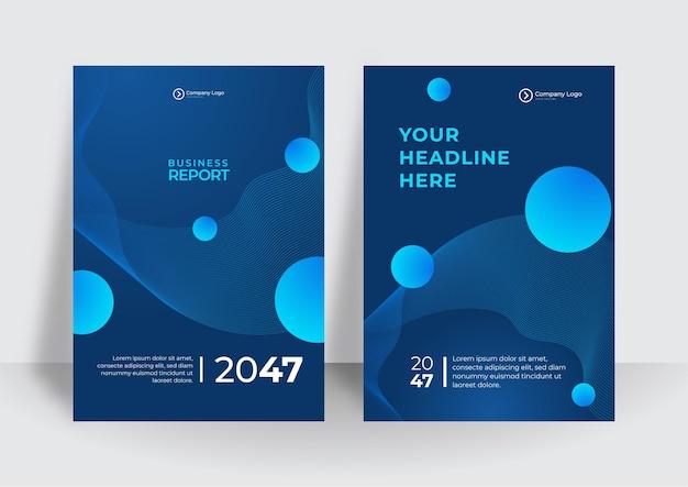 Blauwe huisstijl cover business vector design, flyer brochure reclame abstracte achtergrond, leaflet moderne poster tijdschrift lay-out sjabloon, jaarverslag voor presentatie.