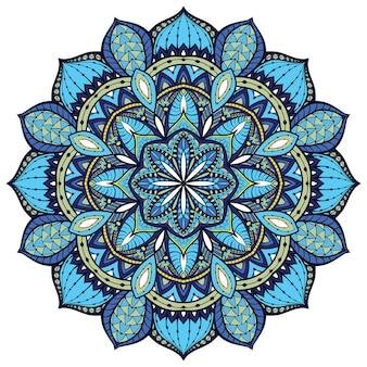 Blauwe indiase mandala.