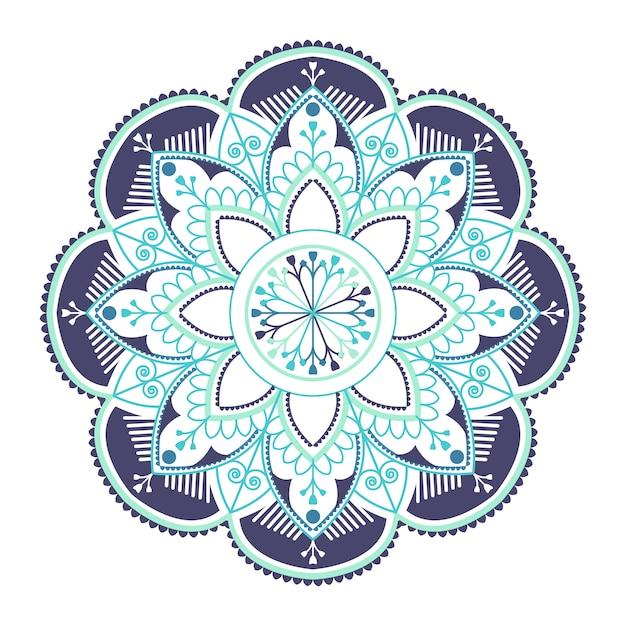 Blauwe indiase mandala