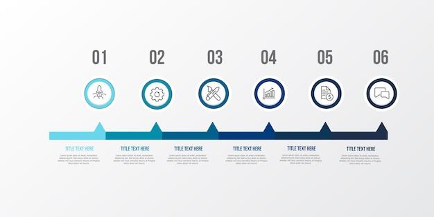Blauwe infographic 3d-tabel