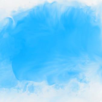 Blauwe inkt effect aquarel textuur achtergrond
