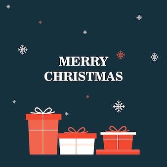 Blauwe kerstpost met cadeaus