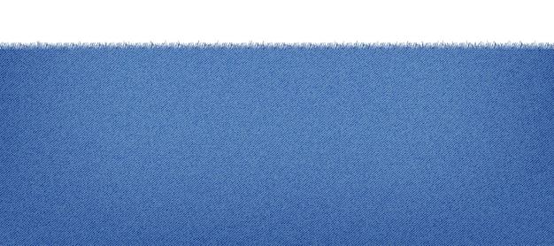 Blauwe klassieke jeansdenimtextuur met een rafelige rand. lichte jeans textuur. realistische illustratie.