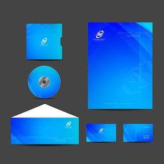 Blauwe kleur elegant briefpapier ontwerp