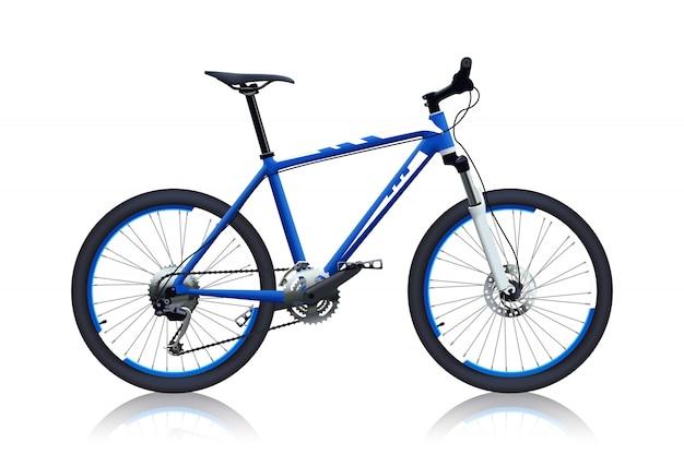 Blauwe kleur fiets