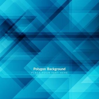 Blauwe kleur veelhoek achtergrond ontwerp