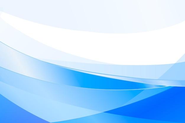 Blauwe kleurovergang golven achtergrond