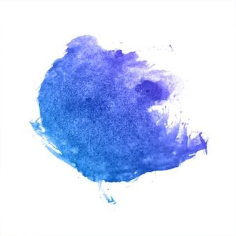 Blauwe kleurrijke plons aquarel