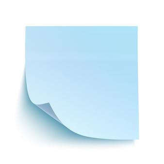 Blauwe kleverige nota.