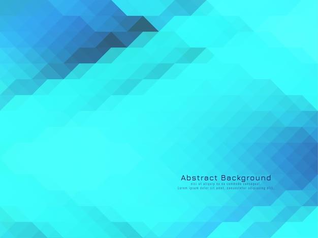 Blauwe koeler driehoekige mozaïek patroon geometrische achtergrond vector