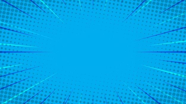 Blauwe komische stijl achtergrond
