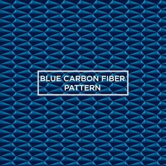 Blauwe koolstofvezel patroon