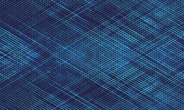 Blauwe kruising grunge lijn achtergrond