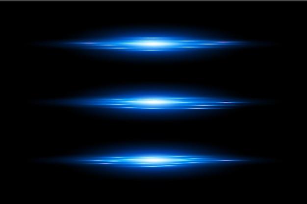 Blauwe lens flares instellen eps