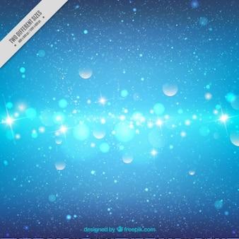 Blauwe lichten bokeh achtergrond