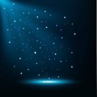 Blauwe lichten glanzende achtergrond