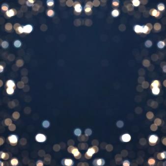 Blauwe lichtgevende achtergrond met kleurrijke lichten