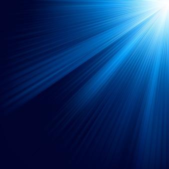 Blauwe lichtgevende stralen. bestand opgenomen