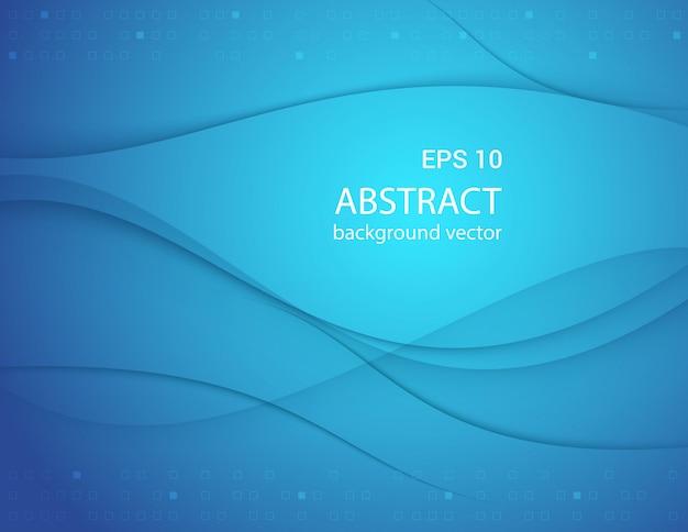 Blauwe lijn abstracte achtergrond.