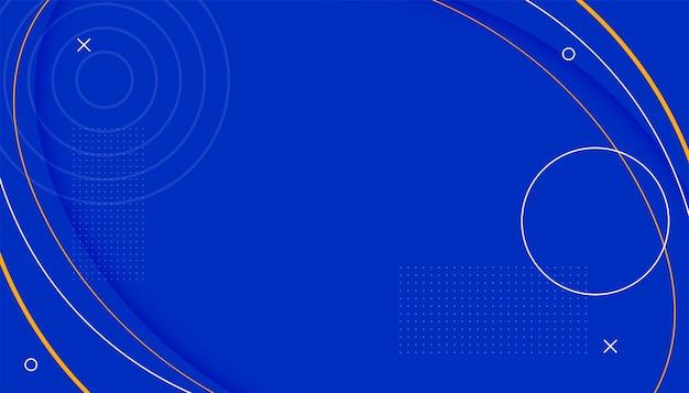 Blauwe lijnstijl memphis achtergrond