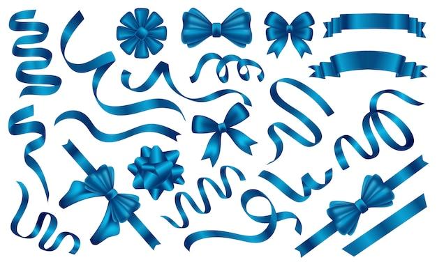 Blauwe linten en tags instellen