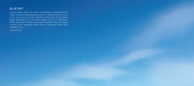 Blauwe lucht en wolken.