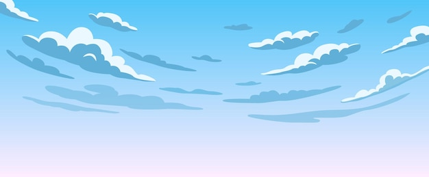 Blauwe lucht met witte wolken heldere zonnige dag