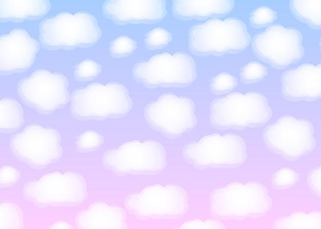 Blauwe lucht met wolken. babyachtergrond.