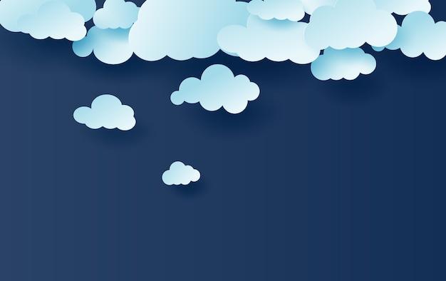 Blauwe lucht witte wolken