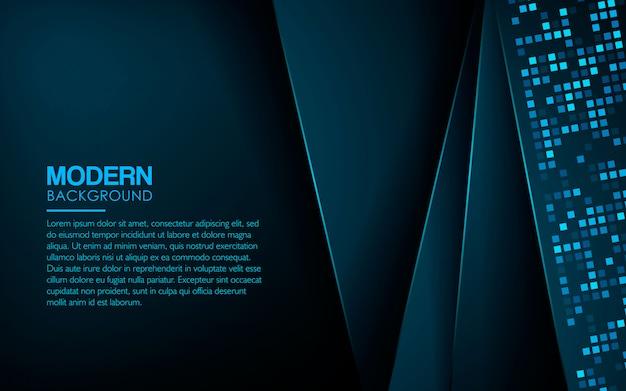 Blauwe luxe achtergrond met lichte vierkante glitters