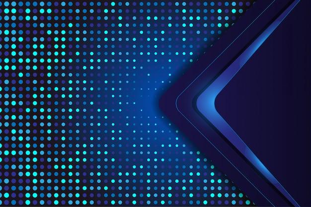 Blauwe luxeachtergrond met halftone en technologievorm