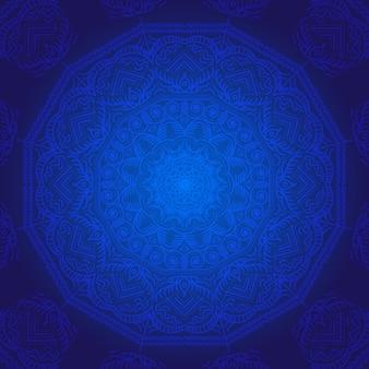 Blauwe mandala achtergrond