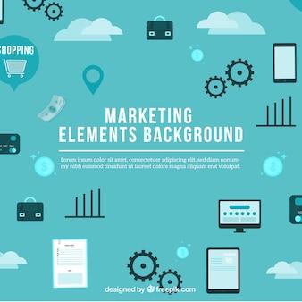 Blauwe marketing achtergrond