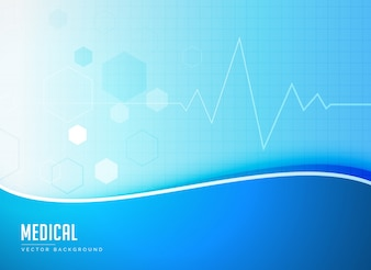 Blauwe medische achtergrond concept poster ontwerp vector