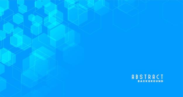Blauwe medische stijl zeshoekige achtergrond