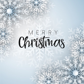 Blauwe merry christmas-achtergrond