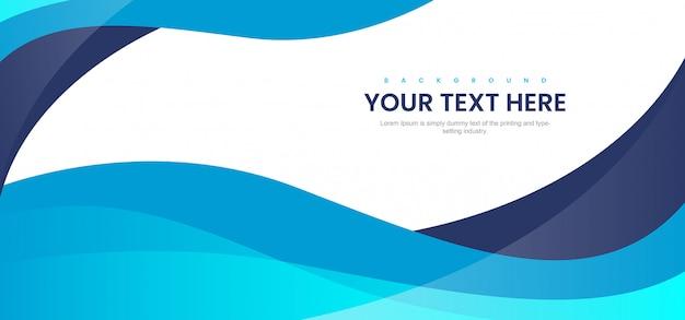 Blauwe moderne abstracte achtergrond