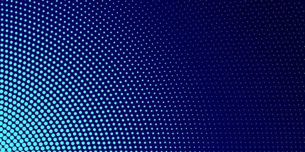 Blauwe moderne halftone achtergrond