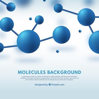 Blauwe moleculen achtergrond