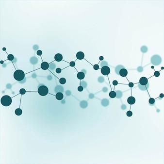 Blauwe molecules achtergrond