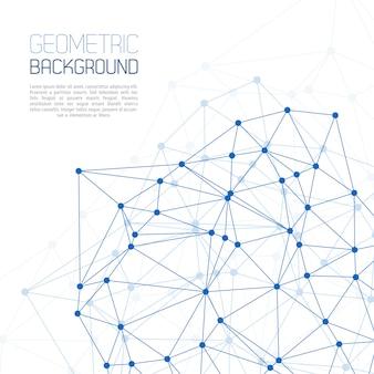 Blauwe molecuul en communicatie achtergrond