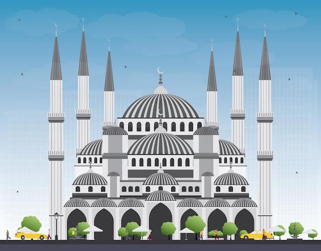Blauwe moskee in istanboel, turkije.